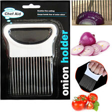 Chef-Aid Onion Holder Easy Hold for Cutting Chopping Tomato Potato Slicer Cutter