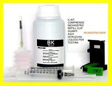 kit inchiostro  250 ml per ricarica cartucce 62 per stampante hp ENVY 5540