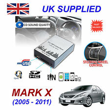 For Toyota MARK X MP3 SD USB CD AUX Input Audio Adapter CD Changer Module 6+6pn