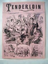 TENDERLOIN Souvenir Program MAURICE EVANS / RON HUSMAN / EILEEN RODGERS 1960