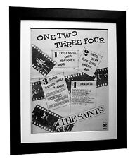 THE SAINTS+One Two Three+POSTER+AD+ORIGINAL 1977+PUNK+FRAMED+FAST GLOBAL SHIP