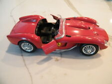 COLLECTIBLE VINTAGE DIE CAST METAL  MODEL 1957  RED FERRARI CAR MADE IN ITALY