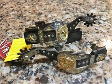New Showman Western Spurs with Silver and Gold Accents 95067