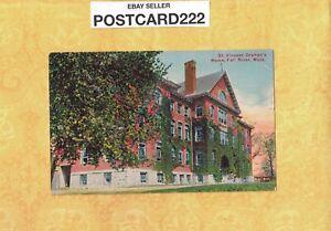 MA Fall River 1908-29 antique postcard ST. VINCENTS ORPHANS HOME BUILDING MASS
