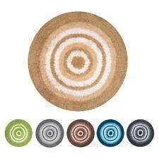 OLIVO.shop - LAKE tappeto bagno rotondo antiscivolo cotone e microfibra 2 misure