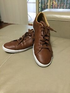 Fred Perry Leather Shoes Kingston Men's Brown Low-Top Sneakers Trainers US 12
