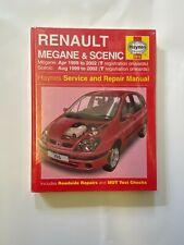 Haynes 3916 Manual for Renault Megane & Scenic 1999-2002