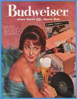 1960 BUDWEISER BEER Pretty Redhead Model RCA LP Album Stereo Bud Ad Advertising