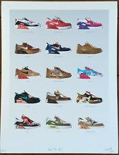 Smoluk - Air Max 90's - Cardboard Shoes Art Print - S/N/35 - 2018
