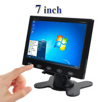 "7"" inch LCD CCTV Monitor HD PC Screen AV/RCA/VGA/HDMI 1024*600 Video w/ Speaker"