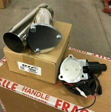 """QTP QTEC35CP Quick Time Performance 3.5"""" Electric Exhaust Cutout Y-Pipe Kit New"""