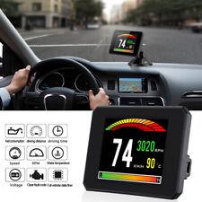 Car SUV HUD LCD Digital Head Up Smart Display OBD2 Speedometer Consumption Alarm