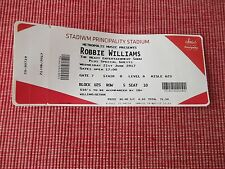 robbie williams used tickets X1,21ST JUNE 2017,PRINCIPALITY STADIUM,CARDIFF,(5)