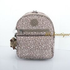 Kipling KI0307 Rose Small Backpack Travel Bag Polyester Dainty Daisies Beige