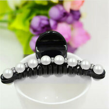 Women Lady Girl Pearl Crystal Hair Clip Clamp Claw Haedpiece Hair Accessory WC