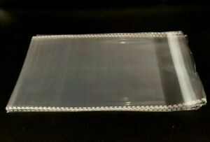 Clear Resealable Self Adhesive Seal Cello Lip & Tape Plastic bags 1.5 mil thick