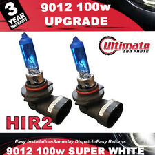 2 x 9012 HIR2 100w Super White High - Main Beam Headlight Bulb 12v DRL Fog Light