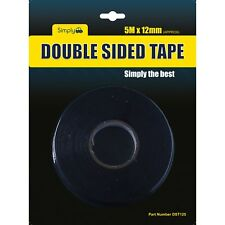 DST125 - TAPE DOUBLE SIDED 12MM X 5 MTR. SIMPLY