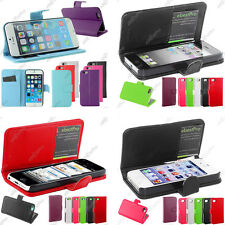 Housse Etui Coque Portefeuille Clapet Simili Cuir Apple iPhone 6 Plus 5S 4S 4G