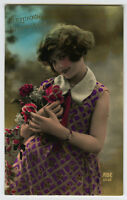 c 1930 Glamour Glamour PRETTY YOUNG GIRL French photo postcard