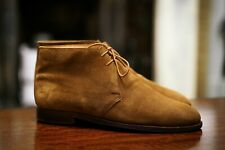 CROCKETT AND JONES X S&H - Harley Suede Desert Boots 9E - Sand Suede