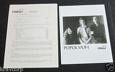 POPUL VUH 'SING FOR SONG DRIVES AWAY THE WOLVES' 1993 PRESS KIT--PHOTO