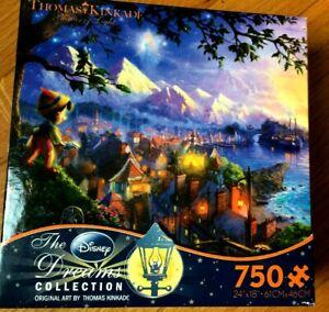"Thomas Kinkade The Disney Dream Collection Pinocchio 750 Piece Puzzle 24""×18"""