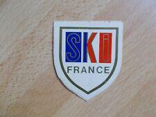 Petit autocollant écusson vintage SKI FRANCE