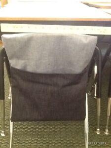 ORIGINAL SEAT SACKS, CHAIR POCKETS denim material handmade by 20 yr teacher