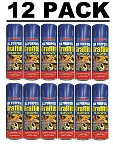 12X250ML GRAFFITI Remover Spray Remove Sticky Metal Paint Pen Chewing Gum Rapide
