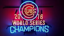 "New Chicago Cubs 2016 World Series Champions Baseball Neon Light Sign 20""x16"""