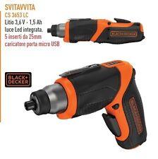 Avvitatore a batteria black & decker svitavvita b+d cs 3653 lc