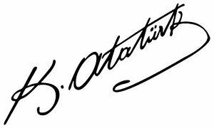 Mustafa Kemal Pasa Atatürk Imza Unterschrift Aufkleber Sticker Wand Tatto Auto