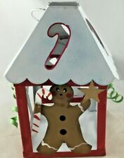 Gingerbread Metal House Lantern Candle Holder T-Light Vintage New