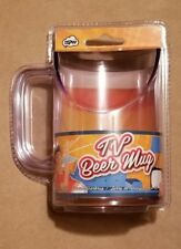 NPW TV BEER MUG SLOPED FOR FULL SCREEN VIEWING! GREAT NOVELTY GIFT NEW W/ TAGS