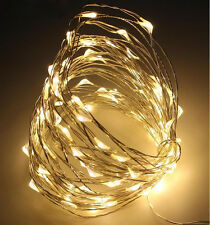 AA Battery Powered 1M/2M/5M/10M LED String Fairy Lights Party Wedding Warm White