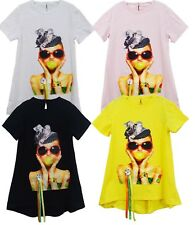 Girls Kids Printed Dress Tee Tunic Casual Summer T Shirt Top Age 4 to 14 Years