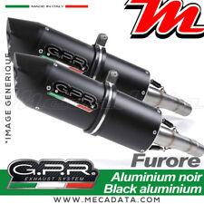 Échappement silencieux GPR FURORE Aluminium noir YAMAHA FZ6 600-FAZER S1-S2 2012
