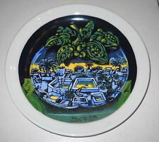 Piatto d'artista Ceramica ERCOLE PIGNATELLI Paesaggio nel frutto dell'anno 1981