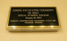 Kobelco 2,000th Excavator Ceremony Sk200Lc March 18,1993 Marble Paperweight