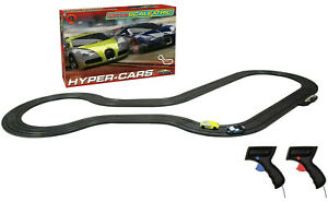 Micro Scalextric Bugatti Veyron Hyper-Cars 1:64 Slot Car Set G1108T BOX DAMAGE