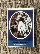 1972 Sunoco NFL Football Stamp - JOHN UNITAS - Baltimore Colts