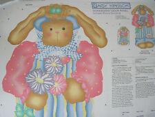 """Daisy Kingdom Somebunny Fabric Door Panel With Bonus Door Stop 34 1/2 X 59 """""""