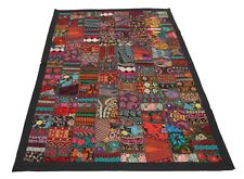 Wall Hanging Vintage Patchwork Tapestry Decorative Throw Runner Black 40 X 60 ""
