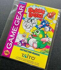 Bubble Bobble 🔥 Sega Game Gear Manual Instruction Booklet 🔥