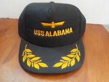 NWOT Adjustable Hat Black USS ALABAMA, Navy