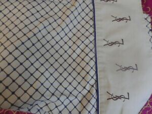 VINTAGE YVES SAINT LAURENT BED SHEET  TWIN  SHEET SET 3 pcs