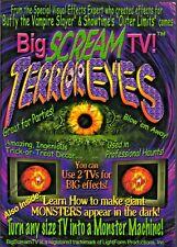 BIG SCREAM TV TERROR EYES VIRTUAL HALLOWEEN HAUNTED HOUSE TV DECORATION EFFECTS!