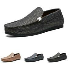 Mens Driving Moccasins Shoes Pumps Slip on Loafers Flats Breathable Comfy Work D