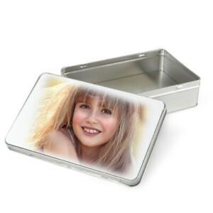 Personalised Photo Tin Rectangle Box